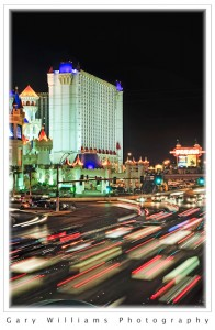 Flowing Traffic lights on the Las Vegas Strip