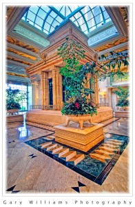 High Dynamic Range photograph of the Mandalay Resort lobby in Las Vegas