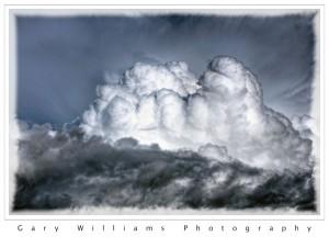 Detail of a cumulus cloud