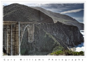 Photograph of Bixby Creek Bridge on the the California Big Sur Coast