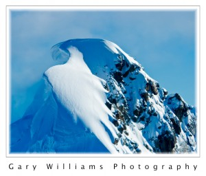 Photograph of a mountain peak in the McKinley Range, Alaska