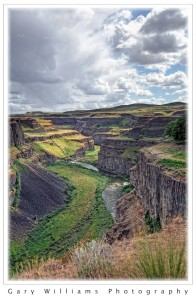 Photograph of Palouse Falls  canyon in southeastern Washington