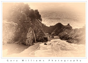 Photograph of McWay Falls along the California Coast