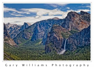 Photograph of  Bridal Veil Falls in Yosemite National Park