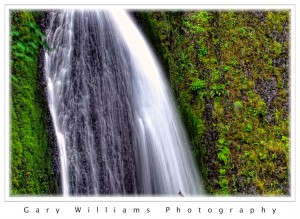 Photograph of  Wahkeena Falls in Oregon's Columbia River Gorge