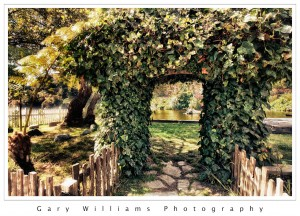 Photograph of a path and archway in Capitola , California