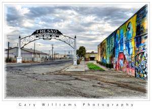 Photograph of Van Ness Avenue Arch in Fresno, California