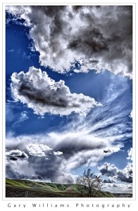 Photograph of dramatic clouds and sky near Colfax, Washington