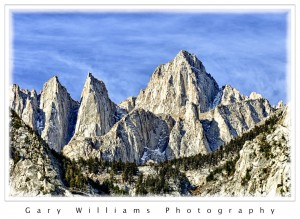 Photograph of Mt. Whitney, the highest peak in the contiguous 48 states
