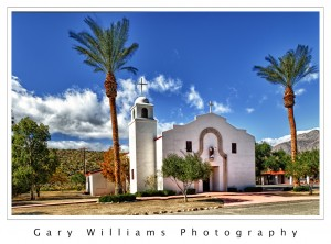 Photograph of a church in Borrego Springs, California