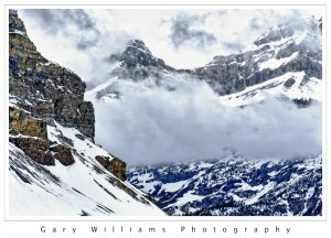 Photograph of Pulpit Peak from the Icefields Parkway, Canada