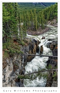 Photograph of Upper Sunwapta Falls in Jasper National Park, Canada