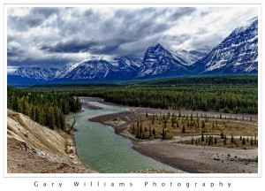 Photograph of Athabasca River in Jasper National Park, Canada