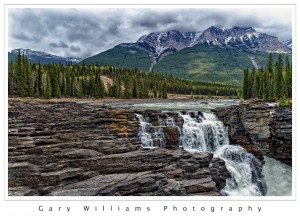 Photograph of Athabasca Falls in Jasper National Park, Canada