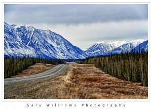 Photograph of the AlCan Highway in the Yukon Territory, Canada