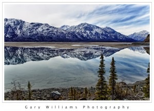 Photograph of Kluane Lake in the Yukon Territory, Canada