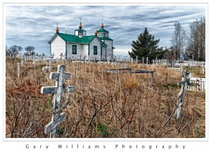 Photograph of the Russian Orthodox church in Ninilchik, Alaska