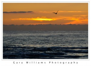 Photograph of a sunset at Moss Landing Harbor