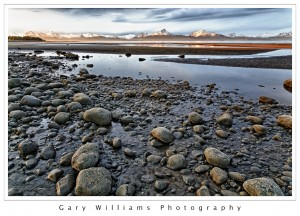 Photograph of low tide in Kachemak Bay, Alaska