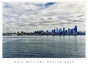 Photograph of the Seattle Skyline taken from the Bremerton ferry