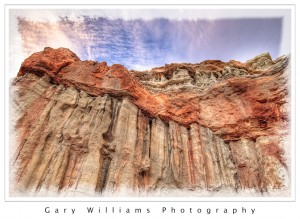 Photograph of sunrise at the Red Rock Canyon State Park, California