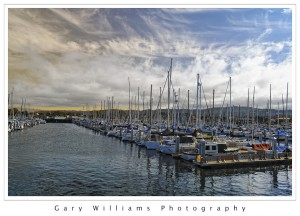 Photograph of boats at Monterey Harbor