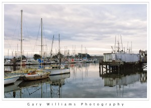 Photograph of boats at Moss Landing Harbor