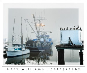 Photograph of a commercial fishing boat at Moss Landing Harbor