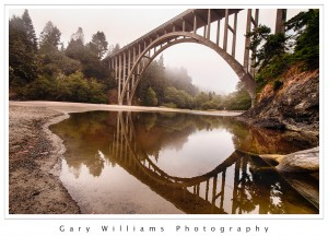 Photograph of Frederick W. Panhorst Bridge at Russian Gulch in Northern California