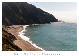 Photograph of waves and a beach at Humbug Mountain Beach in Oregon