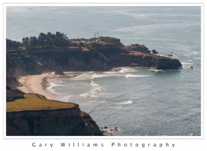 Photograph of a beach and cliffs near Depoe Bay along the Oregon coast