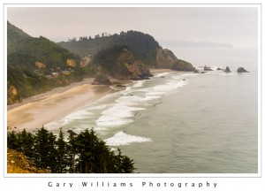 Photograph of waves and a beach near Cape Meares, Oregon