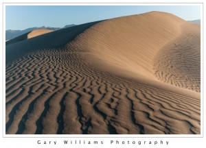 Photograph of sand dunes at Mesquite Flats, Death Valley National Park