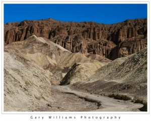 Photograph of Red Cathedral in Golden Canyon, Death Valley National Park