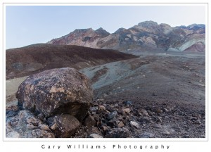 Photograph of colorful rock formations at Artists Palette, Death Valley National Park