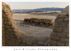 Photograph of a 20-Mule Team Wagon at the Harmony Borax Works, Death Valley National Park