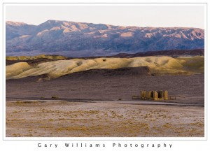 Photograph of an adobe ruin at the Harmony Borax Works, Death Valley National Park