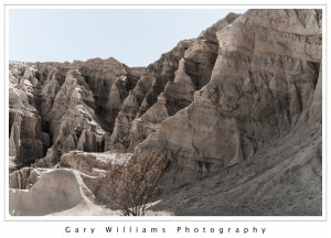 Photograph of eroded canyon walls at Red Rock Canyon State Park, California
