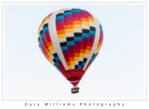 Photograph of a Hot Air Balloon ascending at the Albuequerque Balloon Fiesta