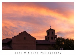 Photograph of San Isidro Catholic Church in Santa Fe, New Mexico