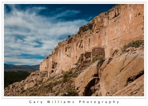 Photograph of Puye Cliff Dwellings near Española, New Mexico
