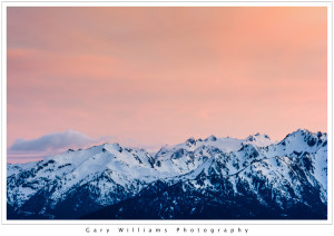 Photograph of Hurricane Ridge in the Olympic National Park, Washington, at sunset