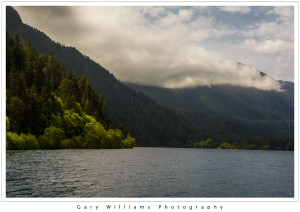 Photograph of Lake Crescent in the Olympic National Park, Washington