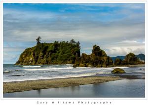 Photograph of Ruby Beach along the Washington coast near the Olympic National Park