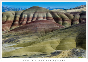 Photograph of The Painted Hills, one of the three units of the John Day Fossil Beds National Monument, near Mitchell, Oregon