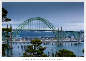 Photograph of the Yaquina Bay Bridge at Newport, Oregon
