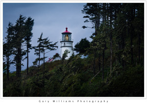 Photograph of the Heceta Head Lighthouse along the southern Oregon coast