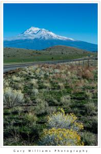 Photograph of Mount Shasta near Dunsmuir, California