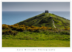 Photograph of St. Michael's Chapel at Rame Head, Cornwall, England