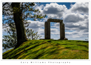 Photograph of the monolithic arch in Gyllyngdune Gardens, Falmouth, Cornwall, England